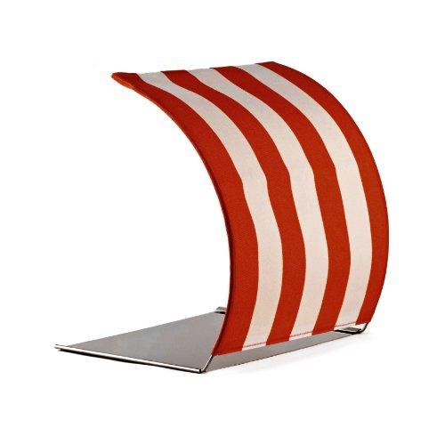 TABRELLA, Tischschirm oder Sonnenschutz für Tablet, iPad, Laptop, Notebook bis 15 Zoll, Strandkorb - Design, rot, eine Geschenk-Idee zum Einzug.