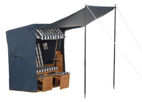 LILIMO Abdeckhaube für Strandkorb Premium mit Vordach, blau